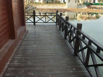 石家庄防腐木木桥制作