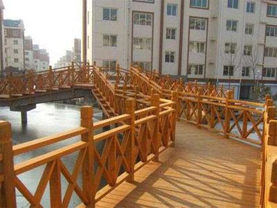 河北防腐木木梯制作