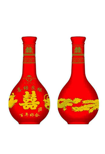 重庆酒瓶喜酒定制