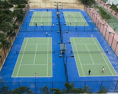 塑膠網球場施工