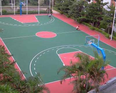 石家庄篮球场塑胶施工