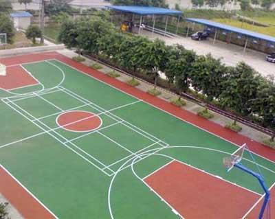 河北篮球场塑胶施工
