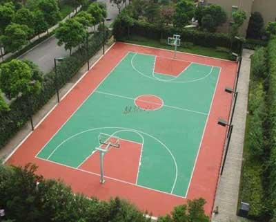 河南篮球场塑胶施工