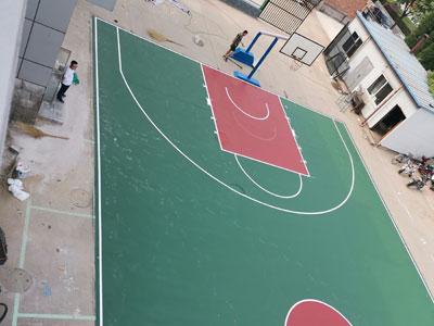 石家莊塑膠籃球場施工