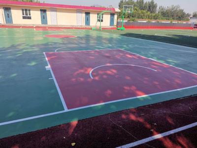 籃球場塑膠施工