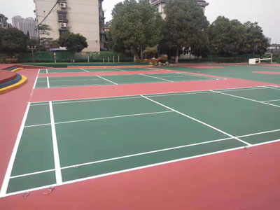 網球場塑膠施工