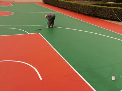 塑膠籃球場施工