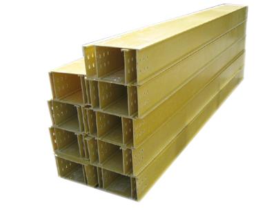 黄色槽式玻璃钢桥架
