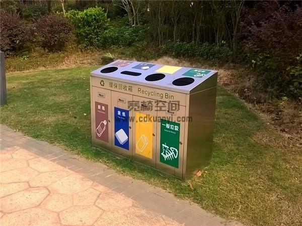 成都防腐木垃圾箱