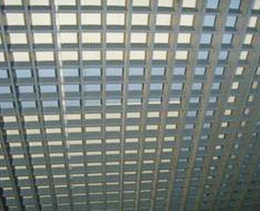 平面铝格栅