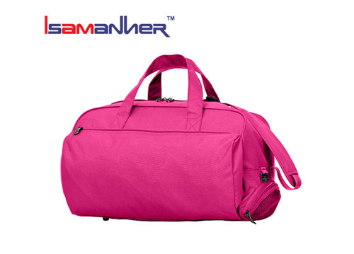 147d754fafc6 New design brand name practical gym ladies travel bags with shoes pocket