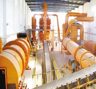 自动化喷浆造粒复合肥生产线