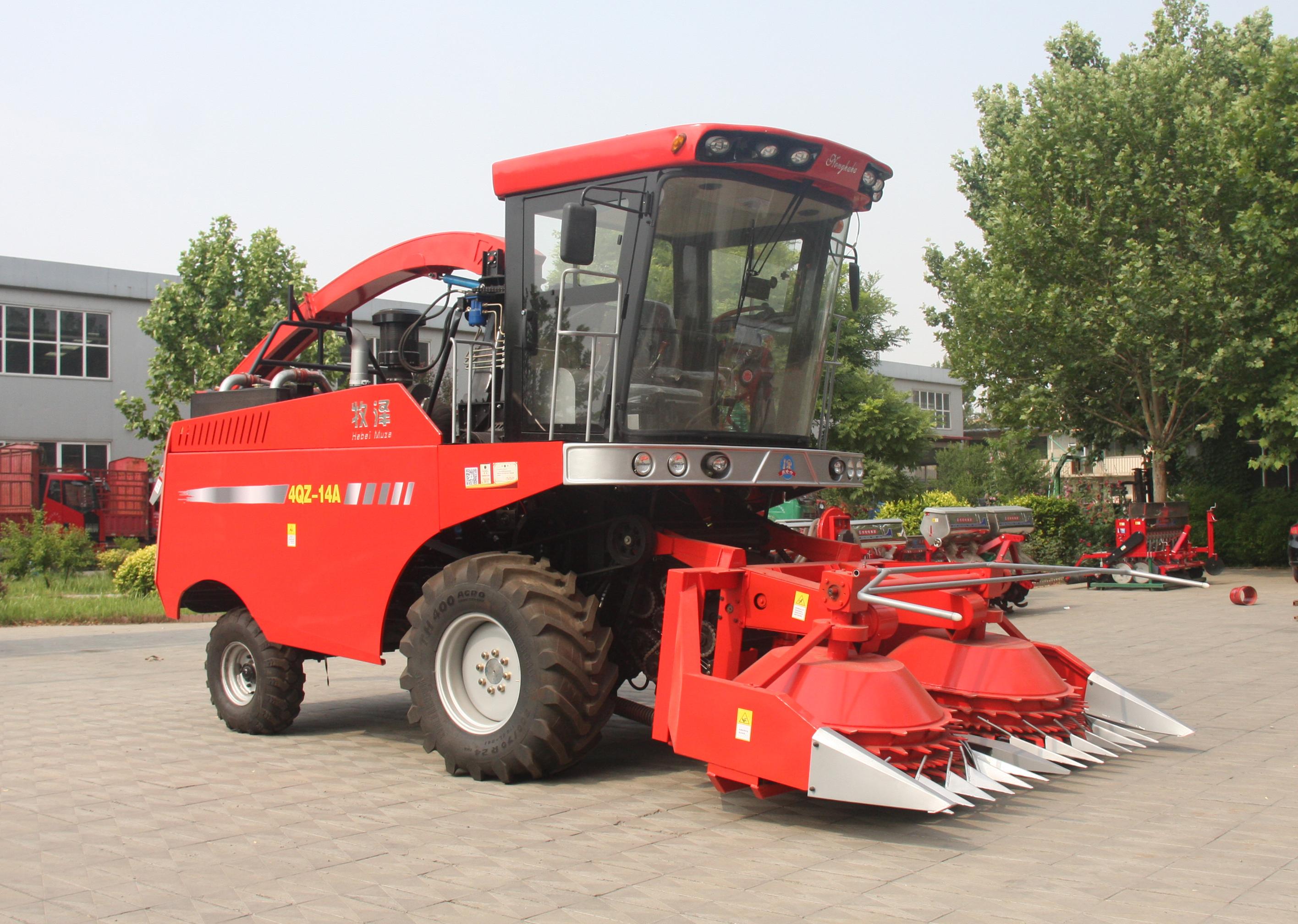 4QZ-14A青饲料收获机 籽粒破碎青贮机