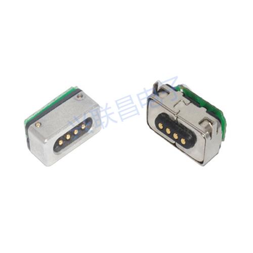 磁吸式公对母电源连接器