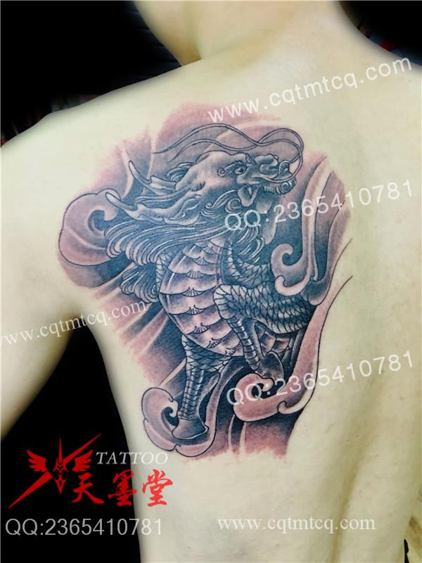 重庆背部纹身