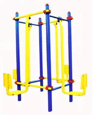 公园健身器材-双位蹬力训练器