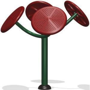 公园健身器材:太极推手器