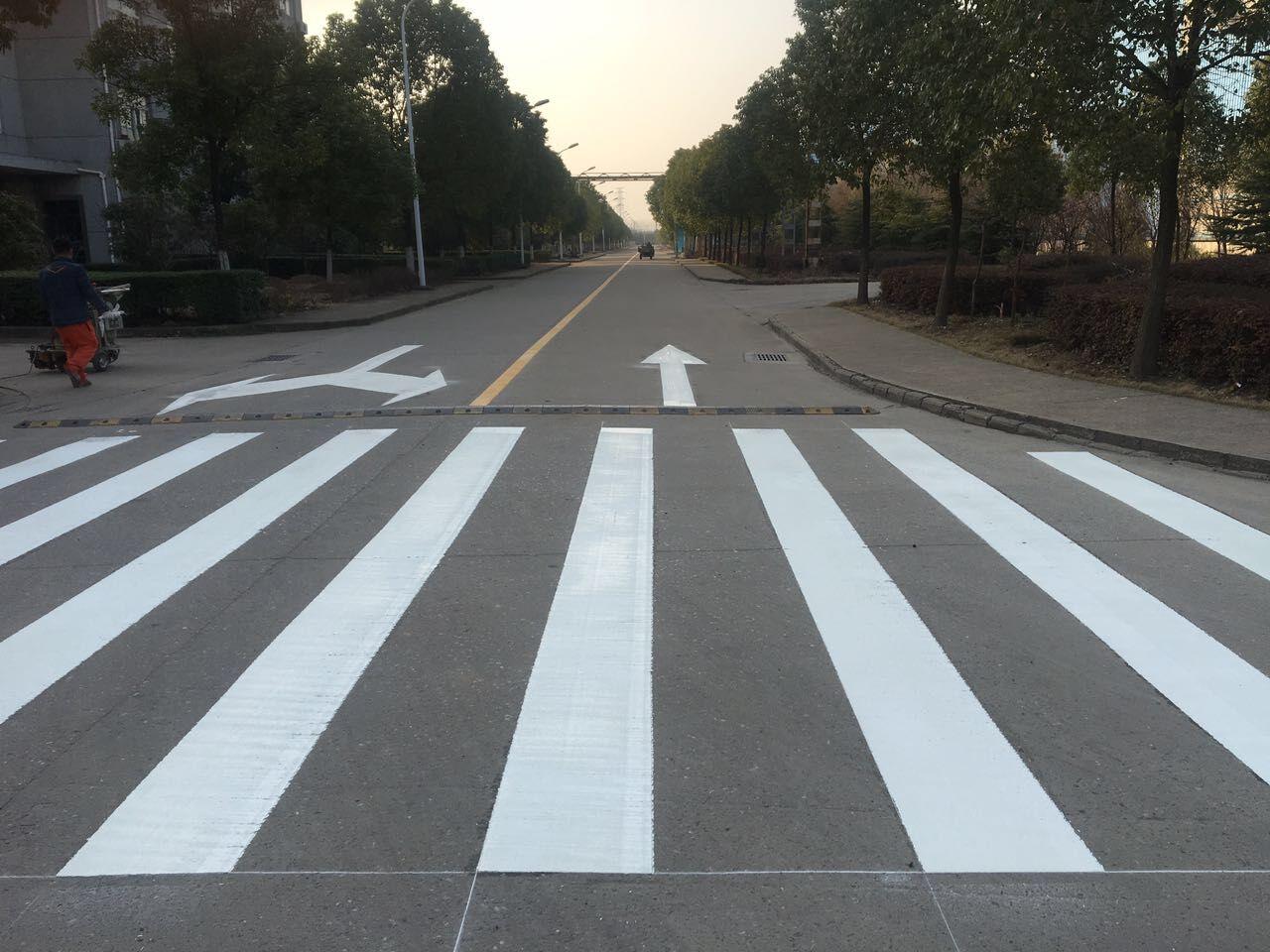 武汉马路划线