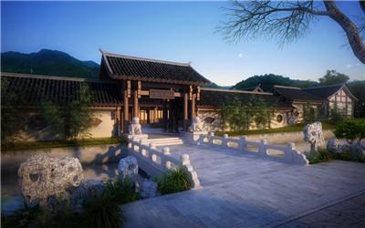 中国古典园林效果图