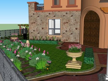 刘府别墅花园设计