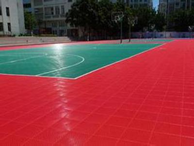 篮球场拼装地板施工