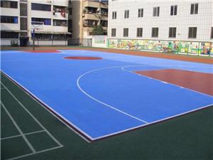 学校运动地板铺装