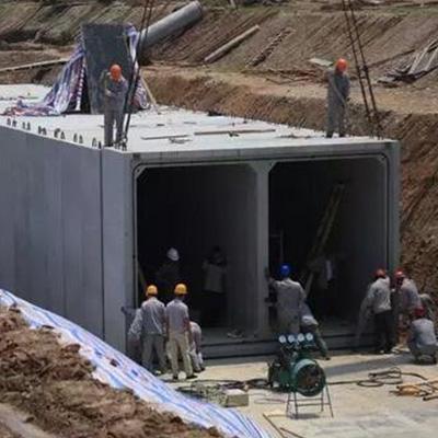 預製綜合管廊安裝現場