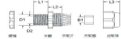 防折弯电缆固定头