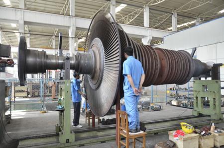50MW汽轮机转子检修