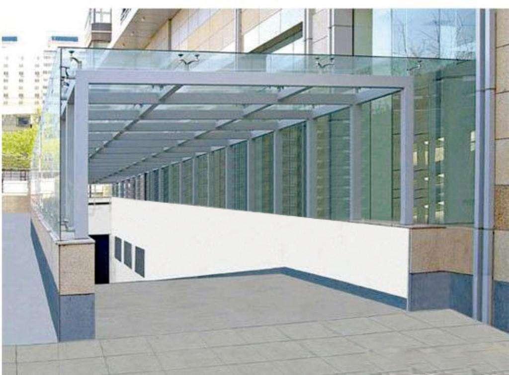 郑州玻璃雨棚安装