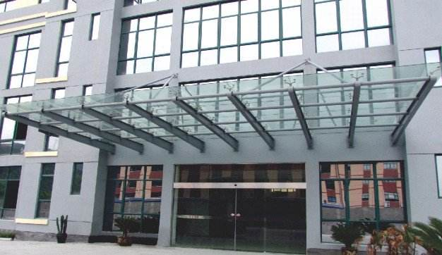 门结构玻璃雨棚