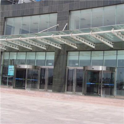 河南钢构玻璃雨棚