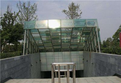 玻璃车库雨棚