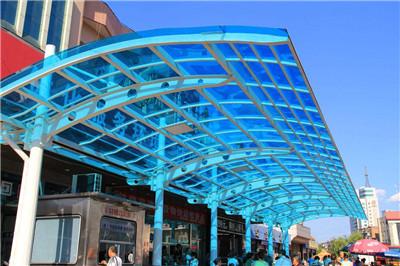 钢结构玻璃雨棚厂家