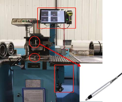 铁路客车轴承检修游隙数据采集工位