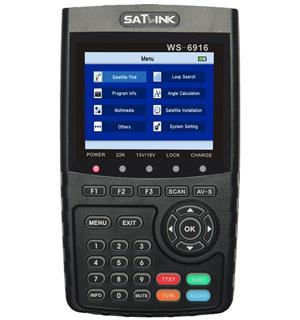 High-capacity digital satellite finder meter