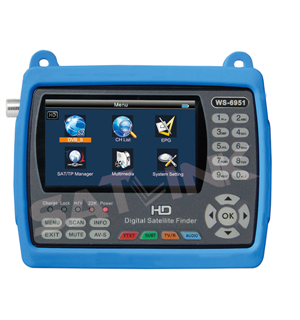 Multi-touch digital satellite finder meter