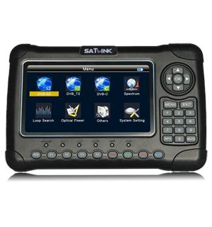 Portable digital satellite finder meter
