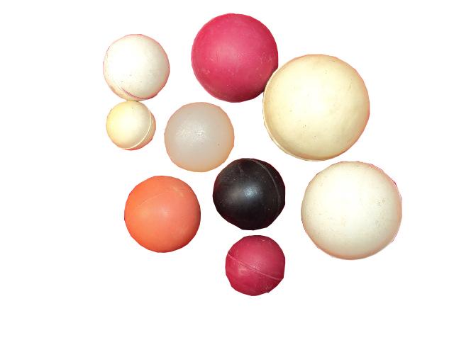 各种规格橡胶球