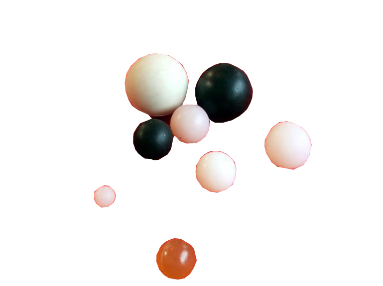 弹性实心橡胶球