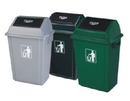 带盖果皮箱垃圾桶