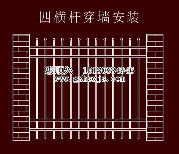 贵阳锌钢栏杆安装