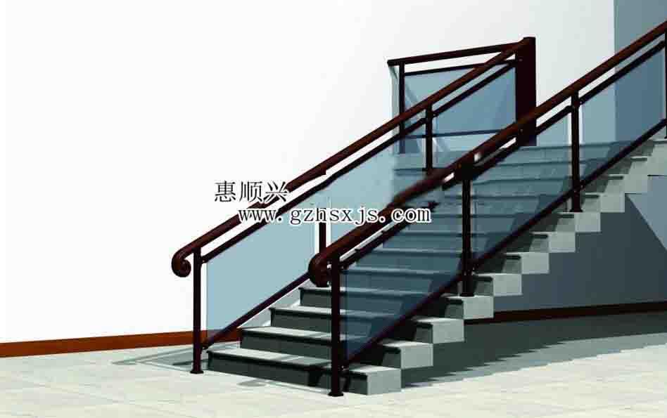 锌合金楼梯扶手安装