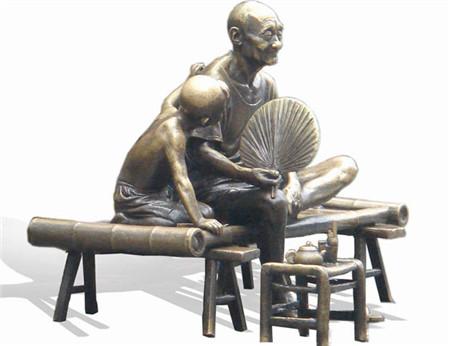 铸铜人物雕塑