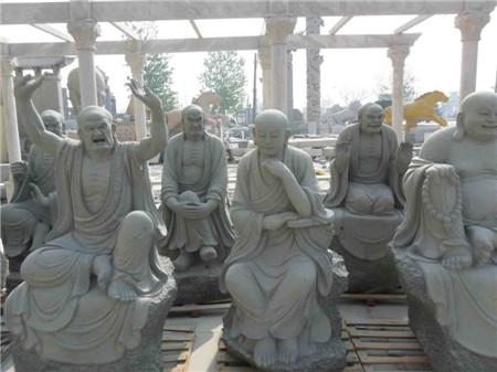 十八罗汉石雕像