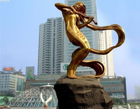 广场锻铜雕塑
