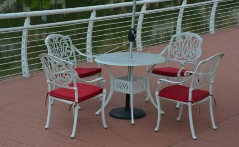 铸铝户外桌椅
