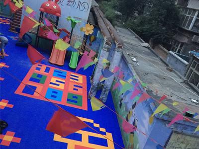 幼儿园彩色悬浮地板