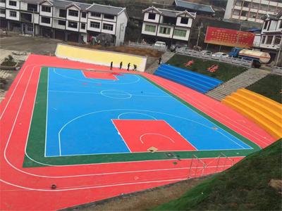篮球场运动悬浮地板