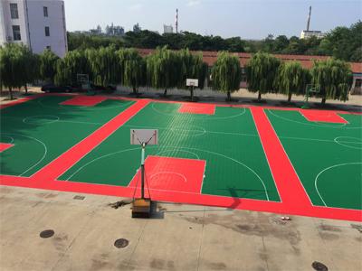 篮球场悬浮拼装地板